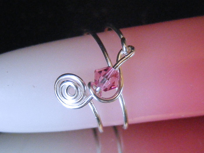 439ec66039a4b Musician jewellery October birthstone rose pink ring
