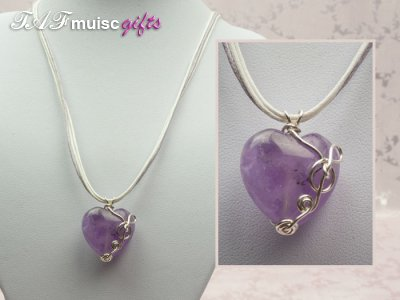 Today's featured music jewellery: Amethyst Necklaces