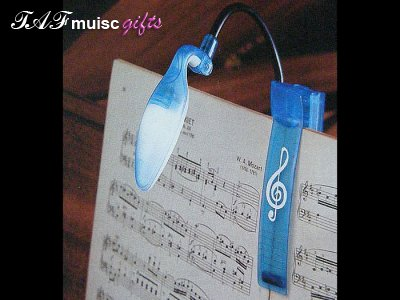 Blue treble clef translucent clip on light