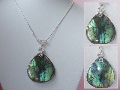 Gorgeous music gifts 925 Labradorite necklace