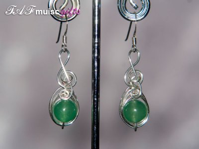 Aventurine Music themed earrings