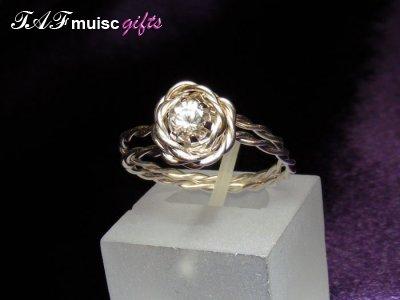 Non music themed Glenda Swarvoski crystal ring