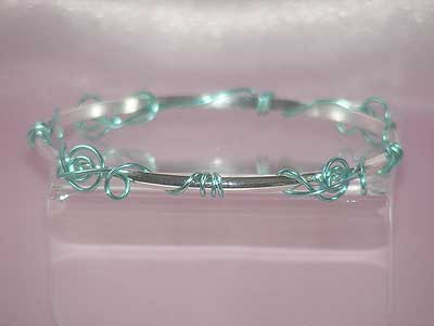 Music theme gifts turquoise treble clef bangle