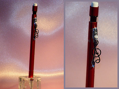 Music theme red music mechanical pencil