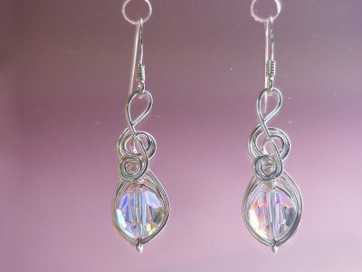 Music themed gifts Swarovski crystal earrings