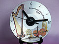 Music theme personalised CD clock